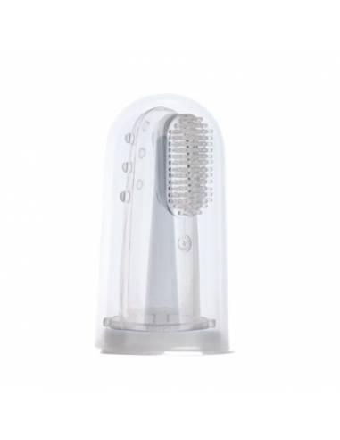 Cepillo dientes para dedo con masajeador encías (con contenedor)