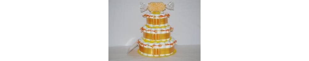 Comprar tarta de pañales tres pisos, regalo nacimiento